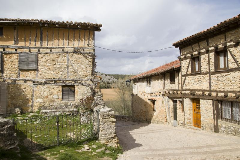 Medieval village of Calatanazor in Soria royalty free stock photography