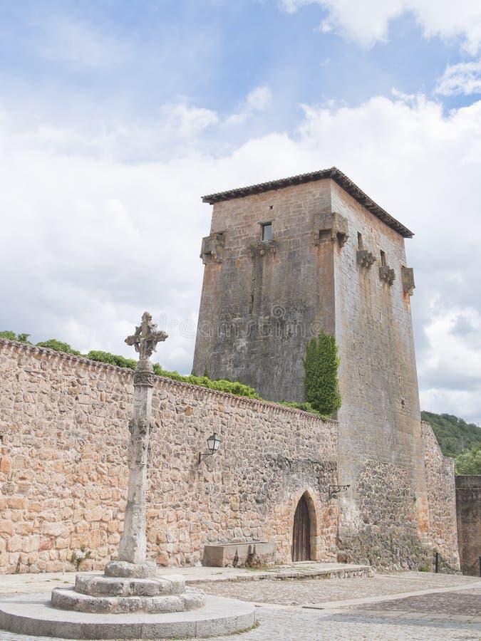 Medieval village of covarrubias royalty free stock photos