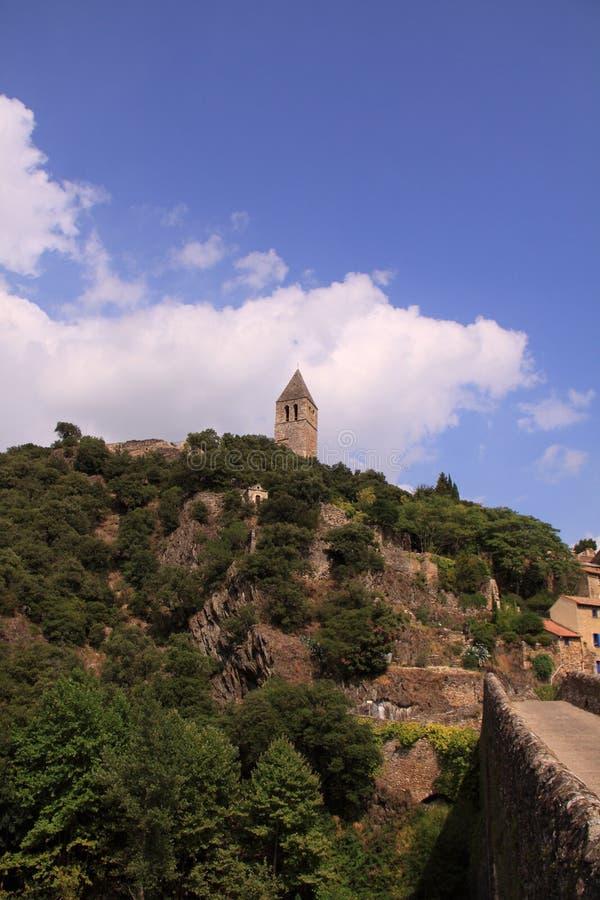 Olargues les plus beaux villages de France. royalty free stock photography