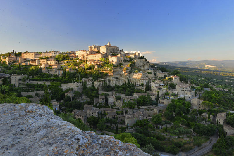 Medieval village of Gordes in Provence. The medieval village of Gordes in Provence, France royalty free stock photo