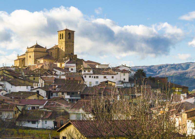 Medieval village. Hervas. Medieval village in Extremadura, Spain stock photography