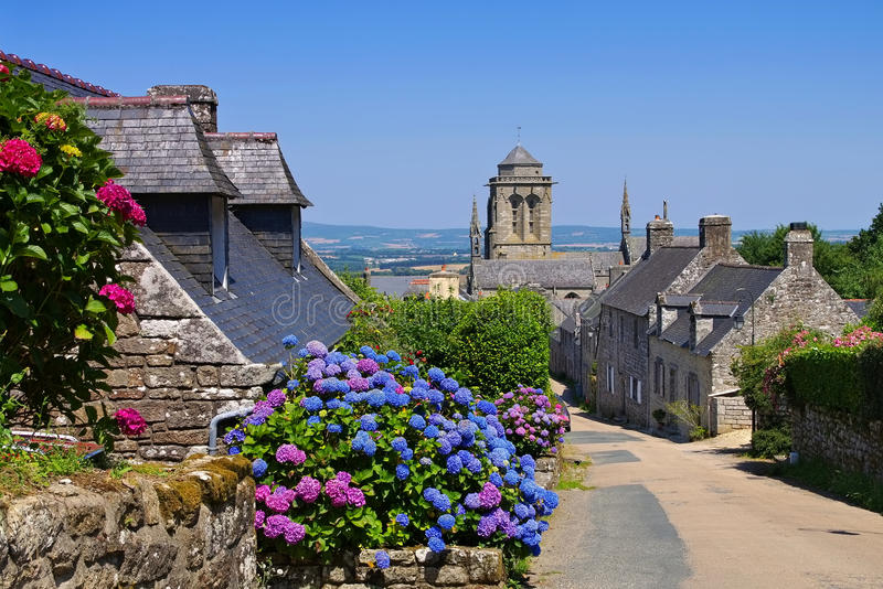 Medieval village of Locronan, Brittany. In France royalty free stock photo