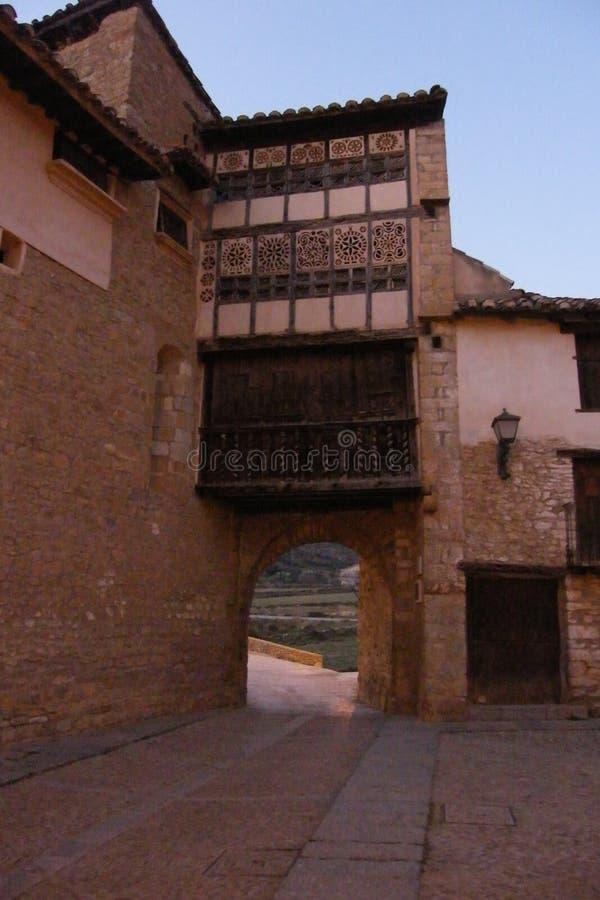 Medieval village of Mirambel. In the Maestrazgo, Teruel, Spain royalty free stock photography