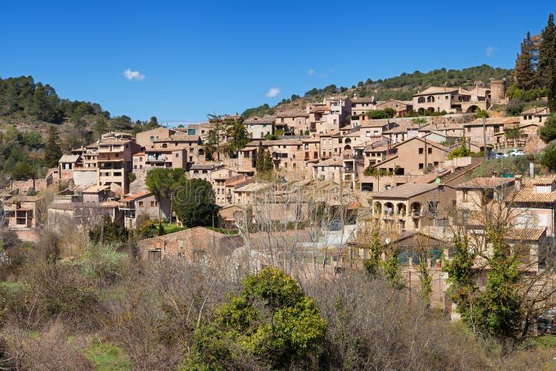 Medieval Village of Mura. Barcelona province, Catalonia stock photos