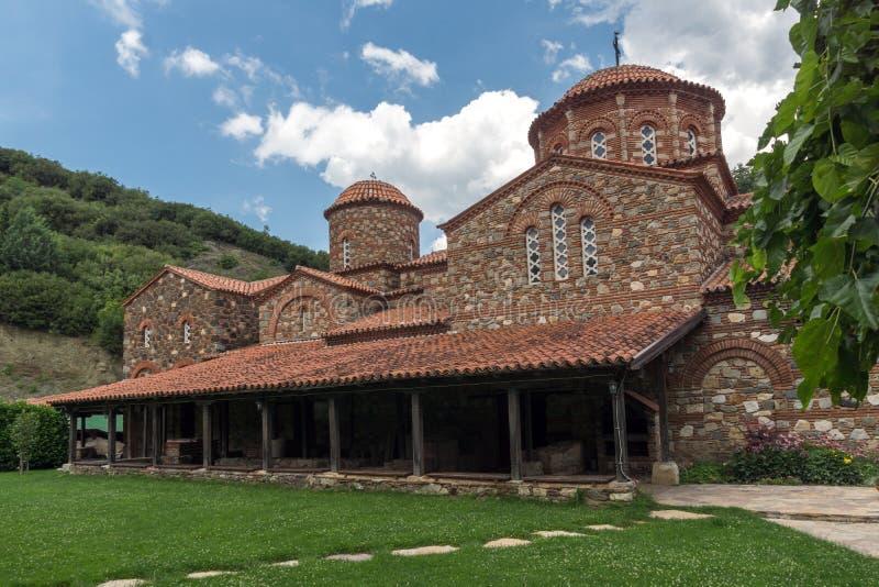 Medieval Vodoca Monastery Saint Leontius near town of Strumica, Republic of Macedonia. Amazing view of medieval Vodoca Monastery Saint Leontius near town of stock images