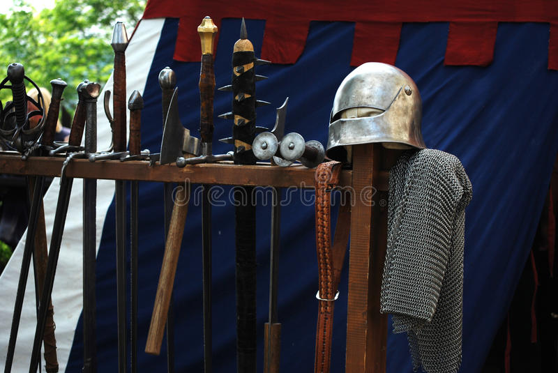 Medieval waepons royalty free stock photography