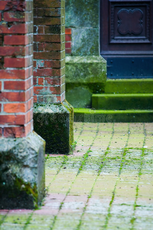 Medieval walls and door. Old medieval fortress walls and door royalty free stock photos