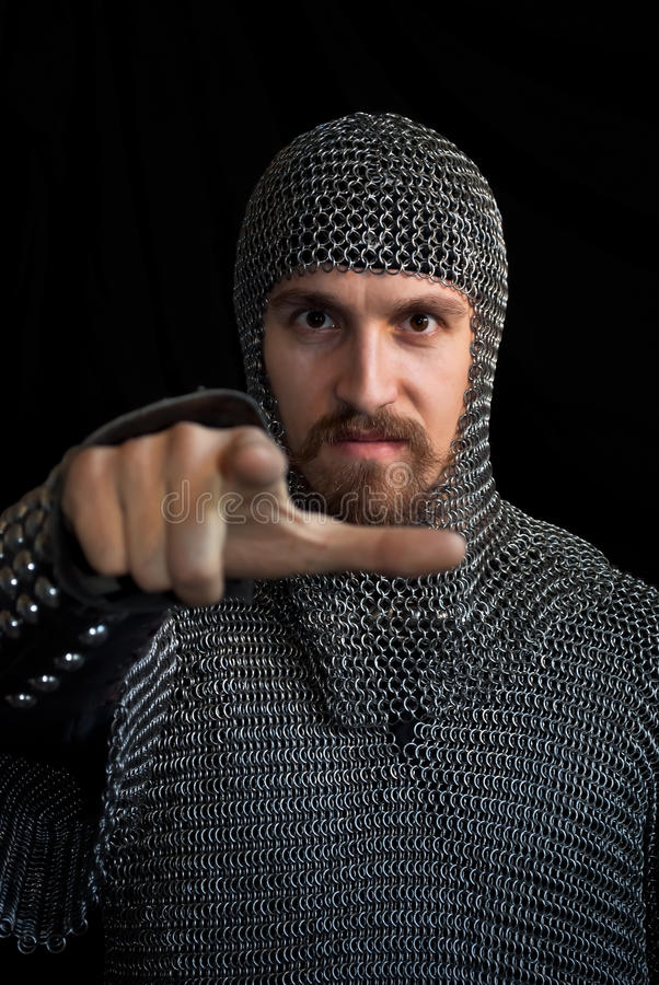 Medieval warrior stock photography