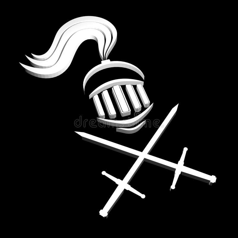 Medieval Warrior Symbol Stock Illustration Illustration Of