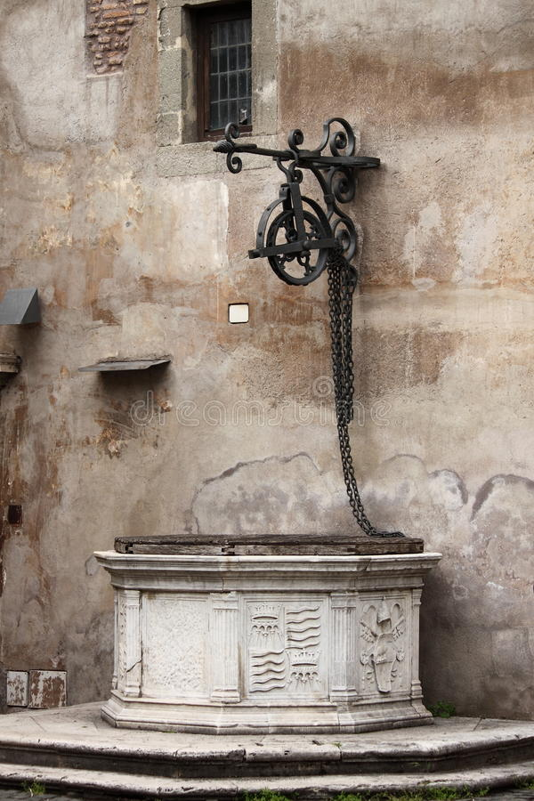Medieval water well stock photography