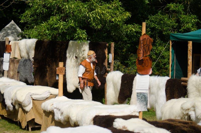 Medieval week 24. Medieval shop in Sweden, Visby, Gotland royalty free stock image