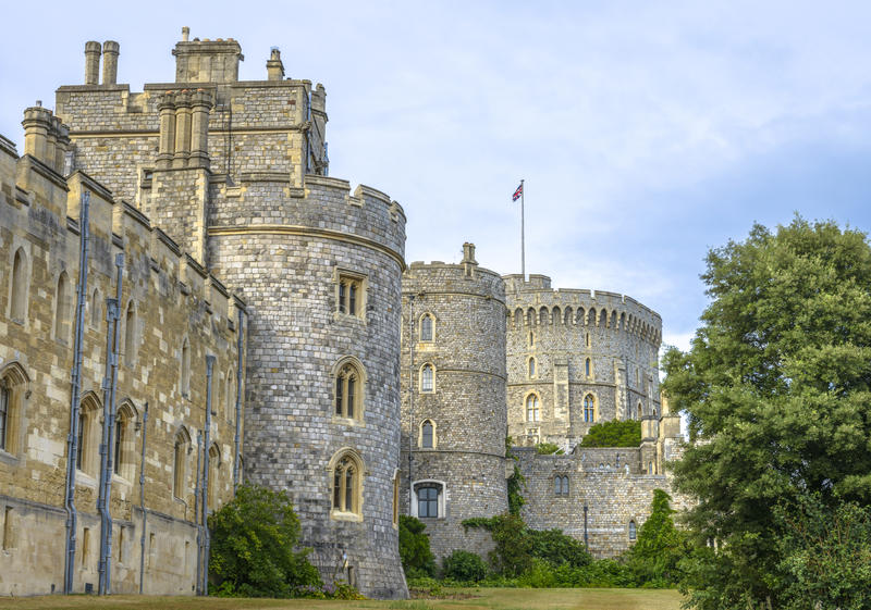 Medieval Windsor Castle In Berkshire, England. Editorial ...