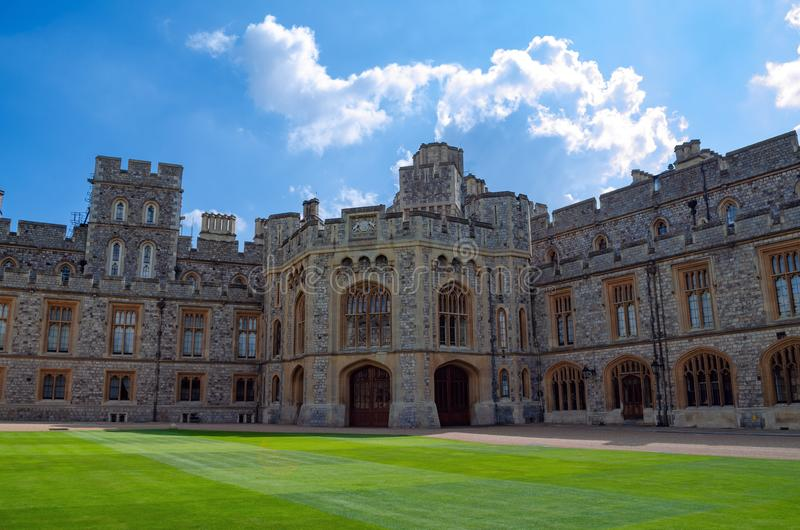 Medieval Windsor Castle royalty free stock photo