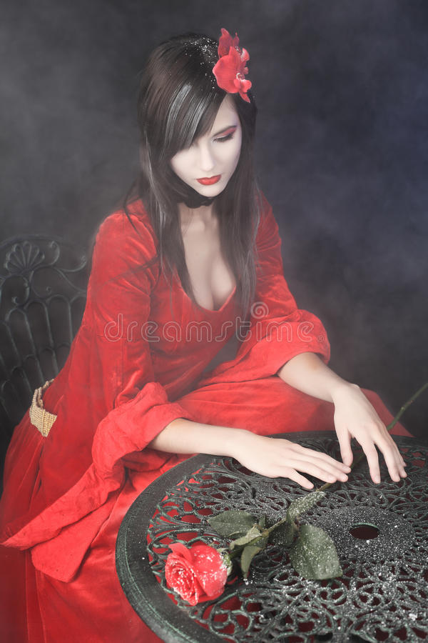 Medieval woman stock photography