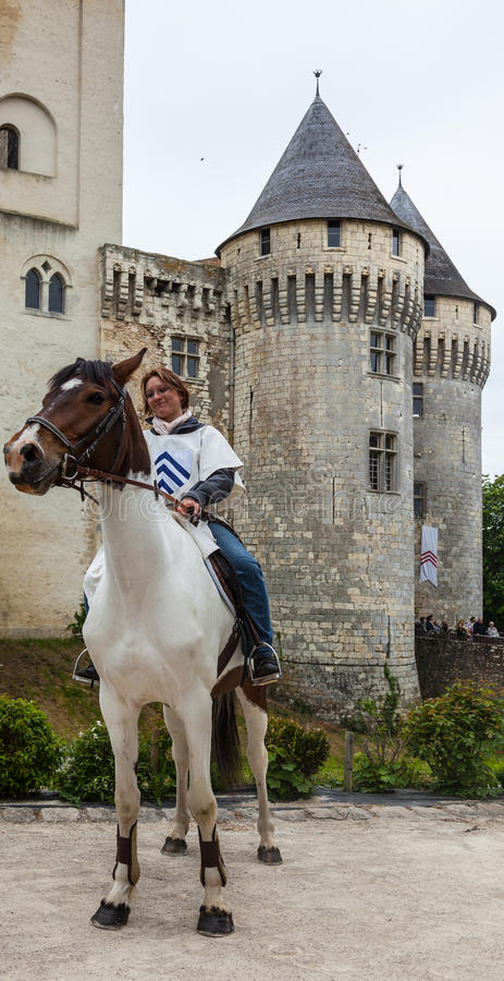 Download Medieval Woman Riding A Horse Editorial Photo - Image: 26879606
