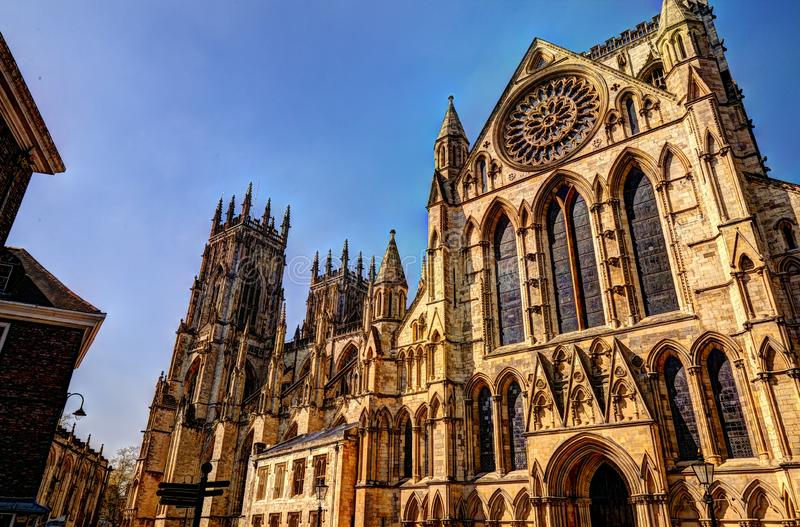 Medieval York Minster Cathedral.Great Britain. royalty free stock photos
