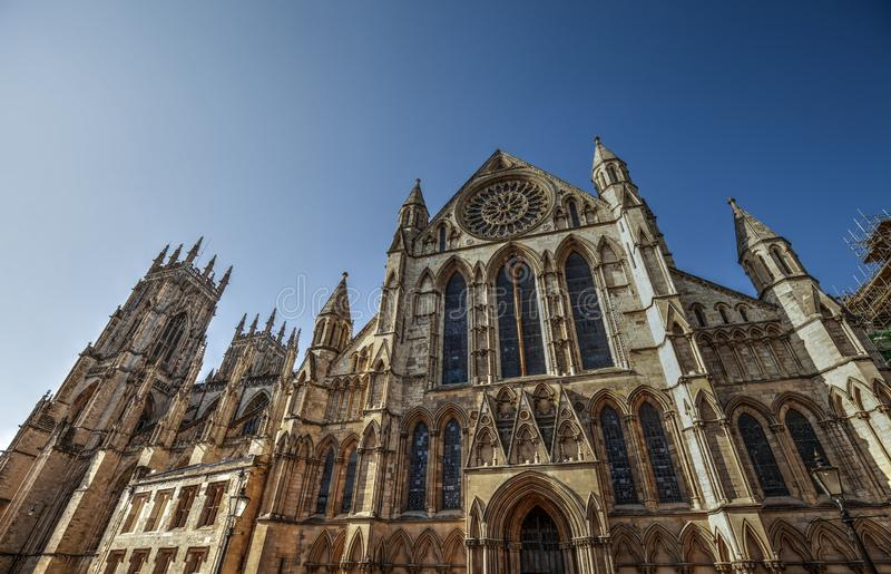 Medieval York Minster Cathedral. stock images