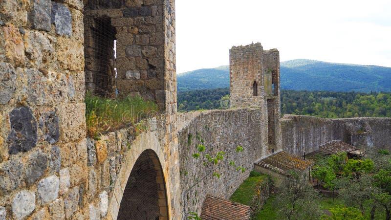 Medievale murato di Monteriggioni immagini stock