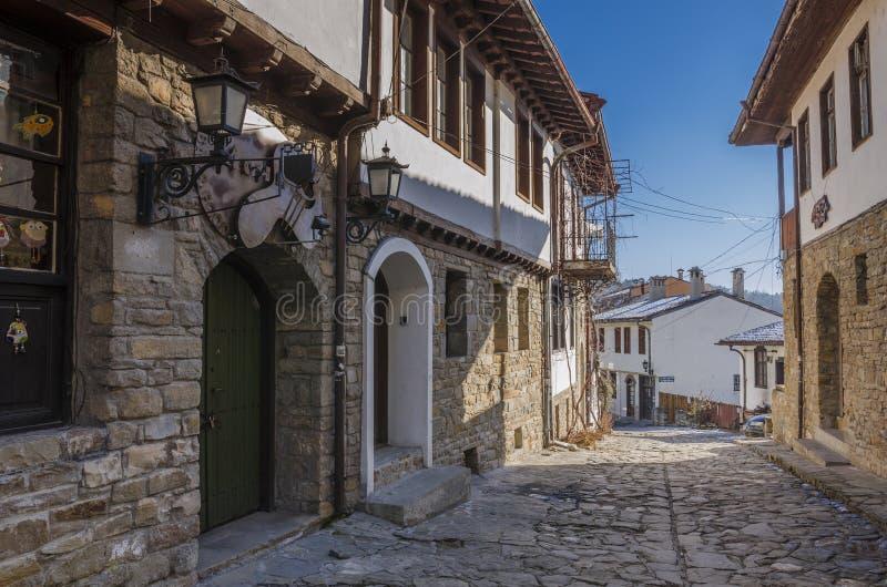 Medieveal ulica w Veliko Tarnovo fotografia royalty free