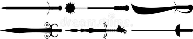 Medievil剑和武器 免版税库存照片