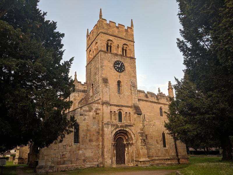 Medievil church Doncaster England UK royalty free stock photography