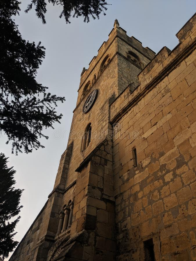 Medievil kyrka campsal Doncaster arkivbilder