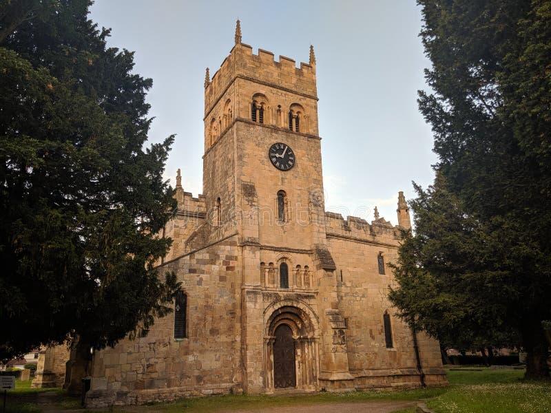 Medievil kyrka Doncaster England UK royaltyfri fotografi