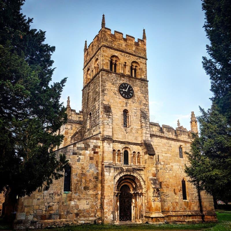 Medievil kyrka England Förenade kungariket royaltyfri foto