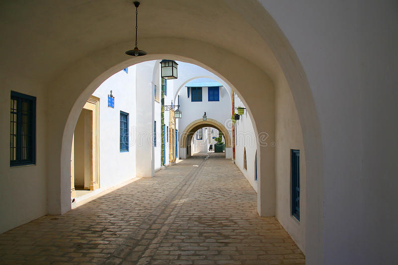 medina新的街道 免版税库存照片