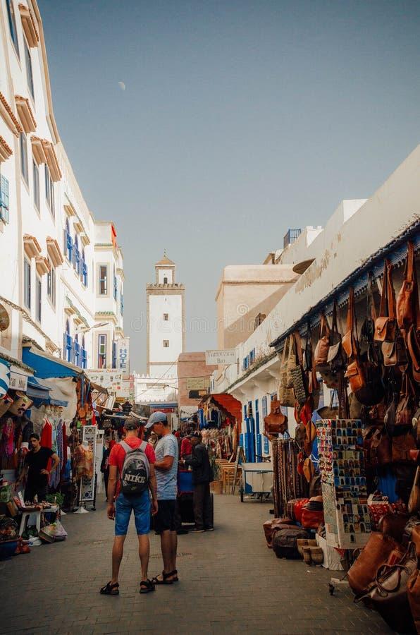 Medina & базар Essaouira, Марокко стоковые изображения rf