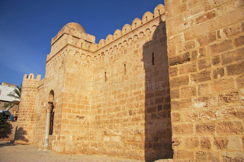 Medina старое ribat города и крепости Sousse в Тунисе стоковое фото rf
