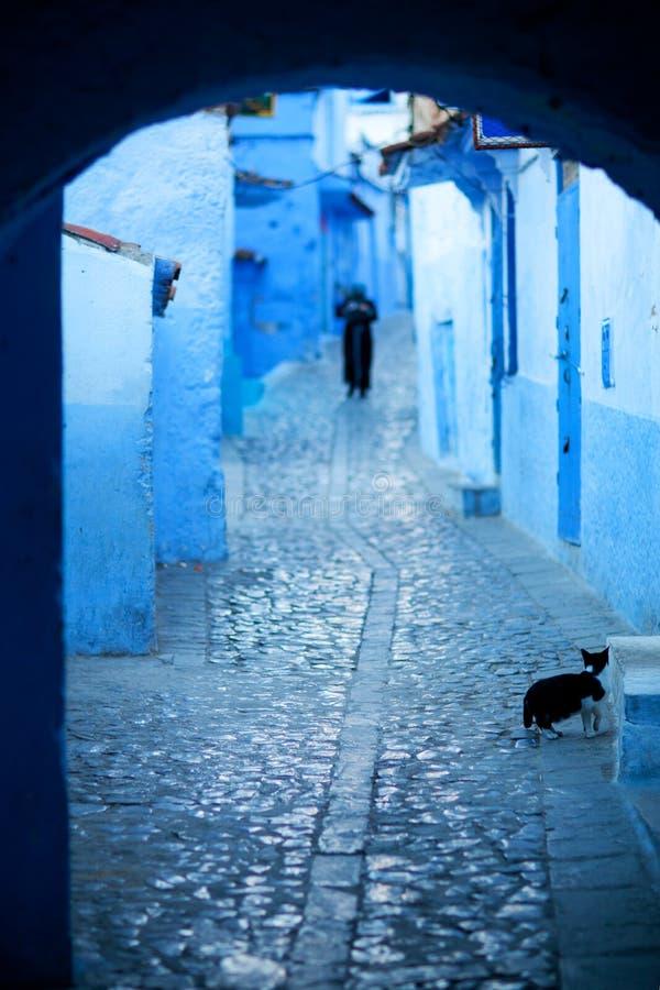 Medina av Chefchaouen, Marocko arkivbild