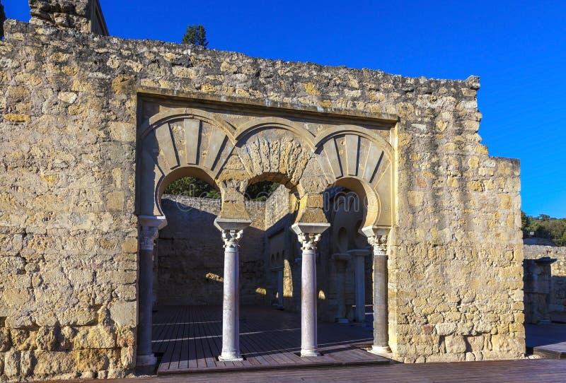 Medina Azahara, warowny Arabski Muzułmański średniowieczny miasto blisko cordoby, Hiszpania zdjęcie royalty free