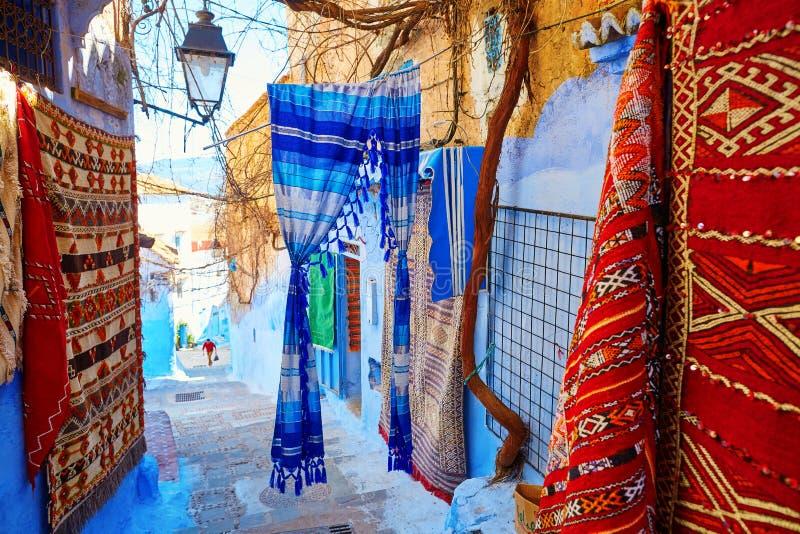 Medina azul bonito de Chefchaouen, Marrocos fotos de stock