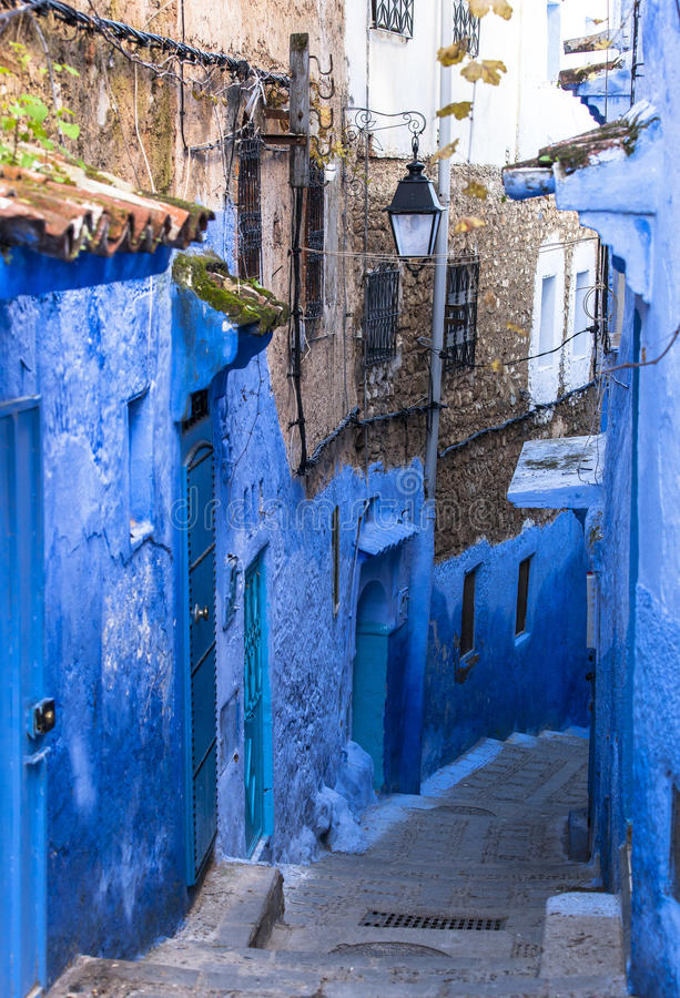 Medina of Chefchaouen, Morocco stock images