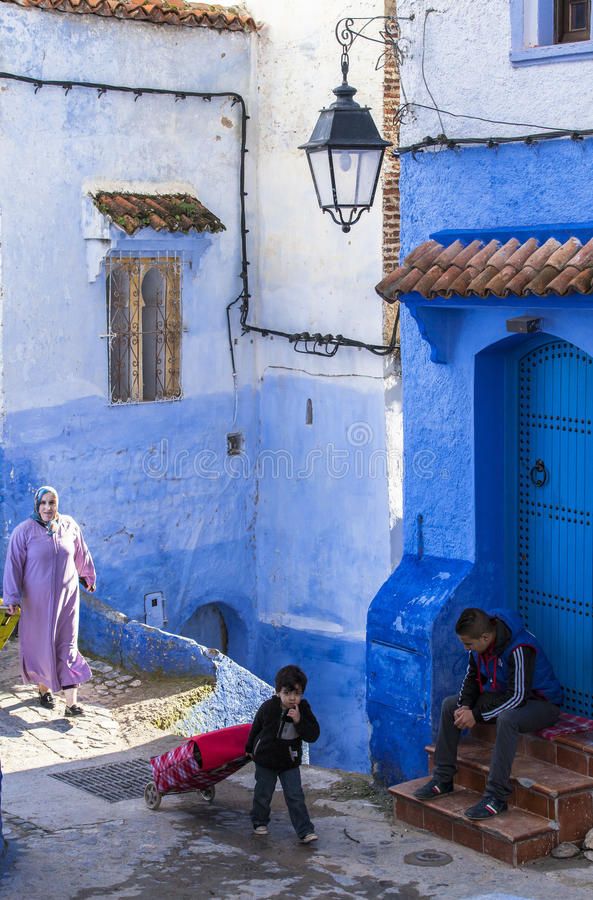 Medina of Chefchaouen, Morocco. The Medina de Chefchaouen - also known as Chaouen or Xauen - is a small and calm evironment.When entering one of the five stock photography