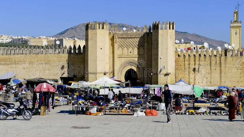 Medina de Fes, Marrocos fotos de stock