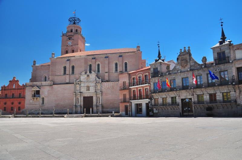 medina del Campo,中央广场。 西班牙 免版税库存图片