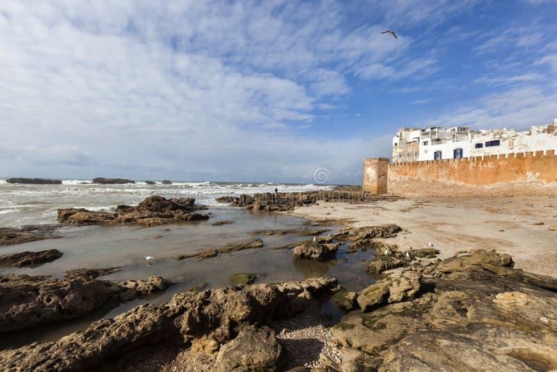 Medina of Essaouira in Morocco. Old city wall and the medina of Essaouira in Morocco stock photography