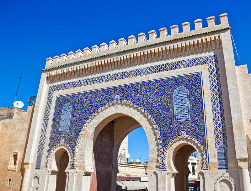 Download Medina Gate in Fes stock photo. Image of building, city - 21234474
