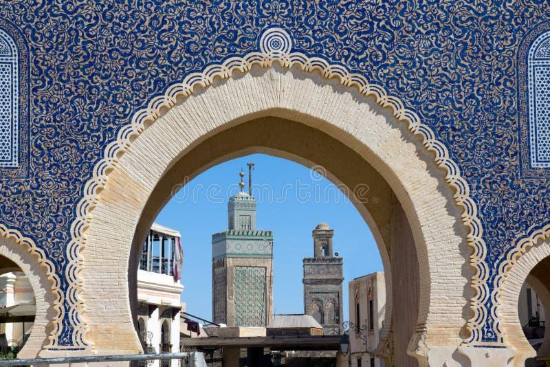 Medina Gate in Fes stock photos
