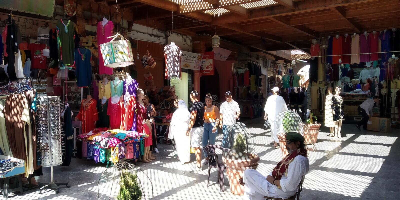 Medina i Oujda, Marocko arkivfoton