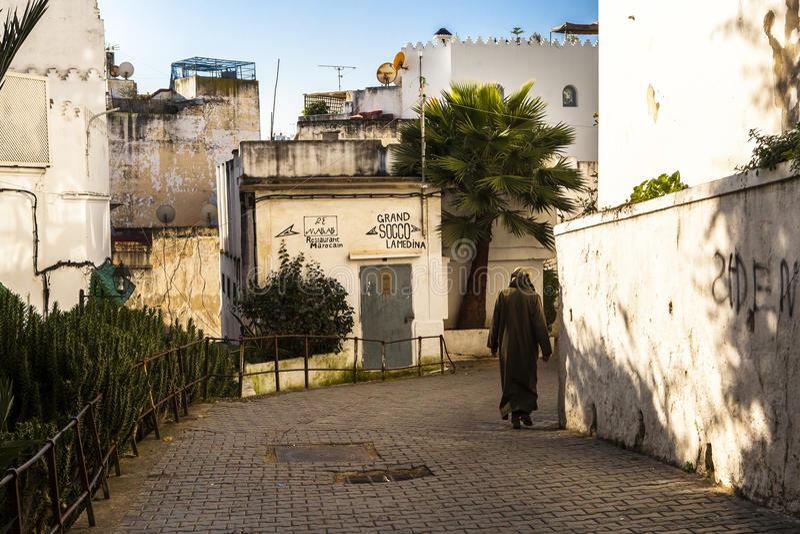 Medina i Tangier, Marocko royaltyfria foton