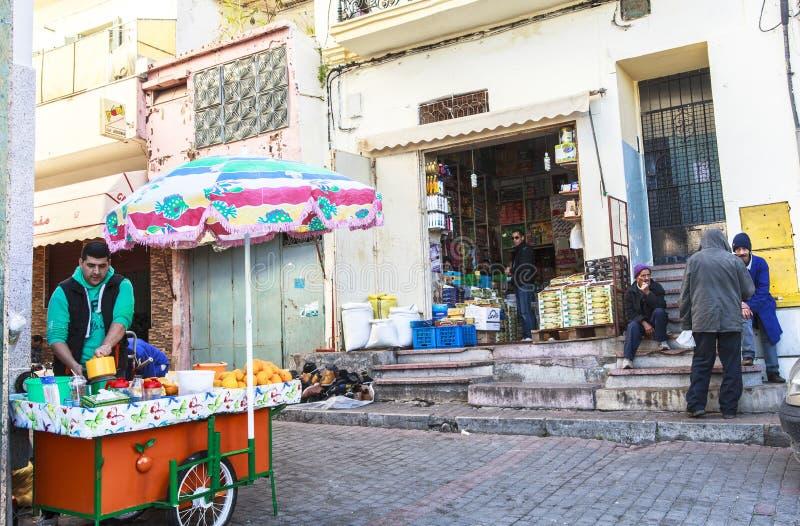 Medina i Tangier, Marocko royaltyfria bilder