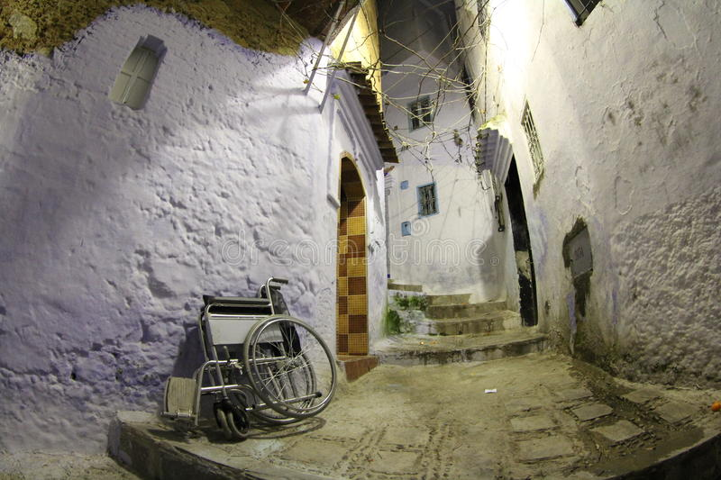 Medina of Morocco with disability royalty free stock photography