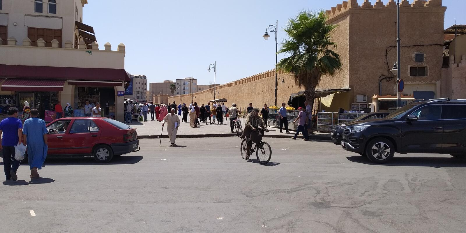 Medina Outside, Oujda Morocco. Streets of Oujda in Morocco royalty free stock photography