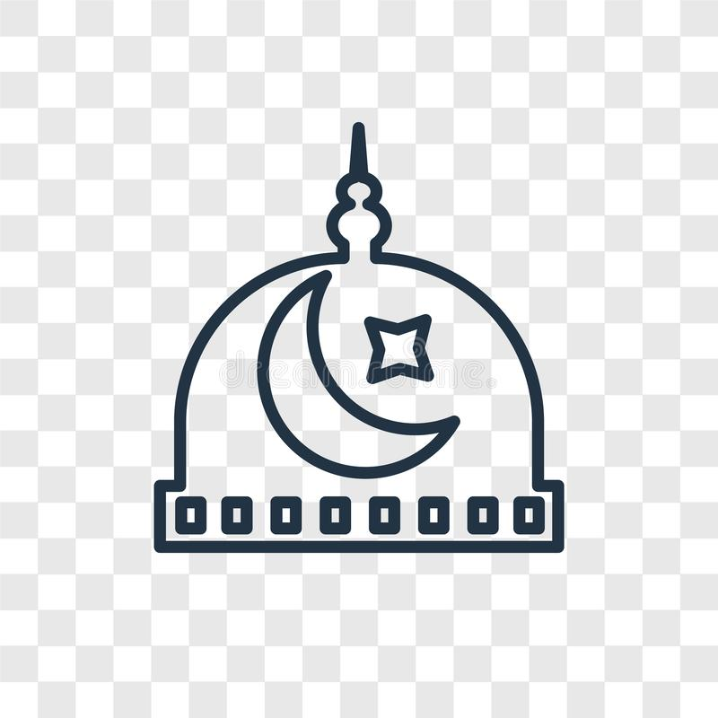 Medina pojęcia wektorowa liniowa ikona odizolowywająca na przejrzystym backgr royalty ilustracja