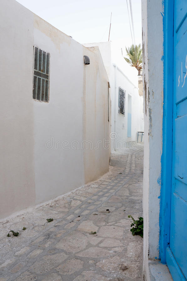 Download Medina's Street In Sousse With White Architectures Stock Image - Image: 26421599