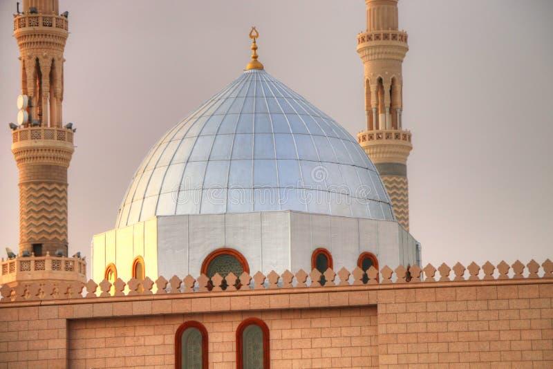 Medina/Saudi-Arabië - 30 mei 2015: Prophet Mohammed Mosque, Al Masjid en Nabawi stock afbeeldingen