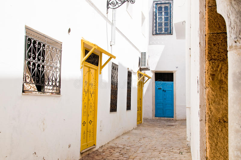 Medina Straßen in Tunis lizenzfreie stockfotografie